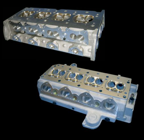 Lotus Twin Cam cylinder heads and Ford BDG, BDA and FVC cylinderheads